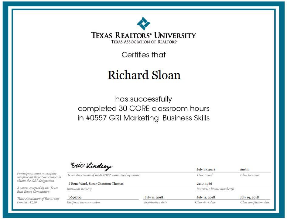 Gri Certification Marketing Geof Sloan